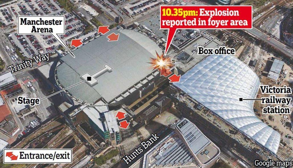 Attentato terroristico a Manchester durante concerto di Ariana Grande: numerosi morti e feriti!