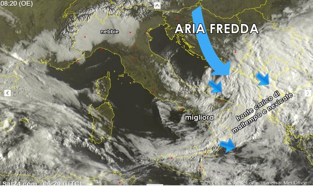Meteo: esordio freddo di Aprile, piogge e neve a bassa quota al sud