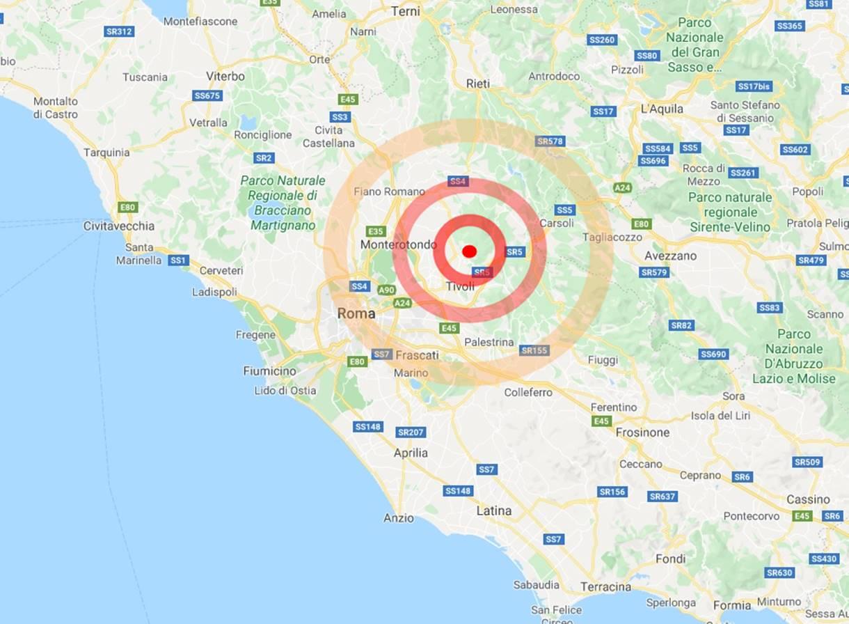 Roma: scossa di terremoto moderata nella notte, epicentro vicino Tivoli