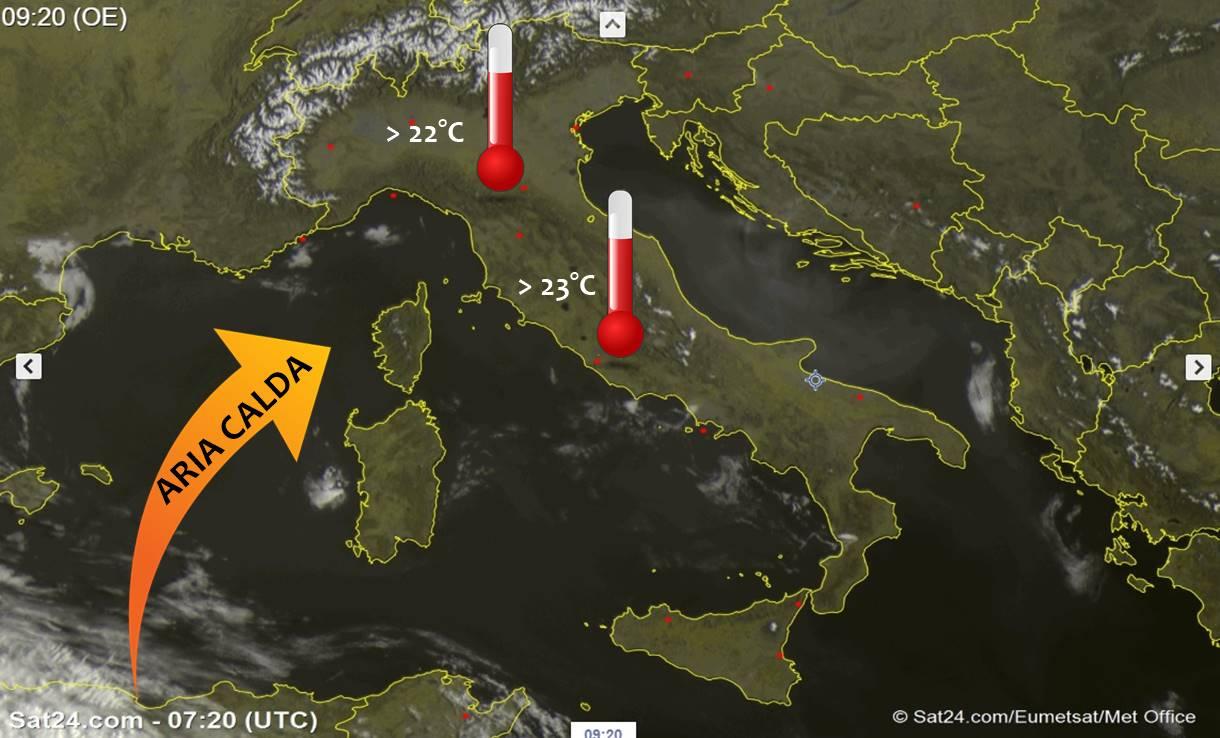 Sole e clima mite su tutta Italia, oggi fino a 25 gradi! Pasqua calda