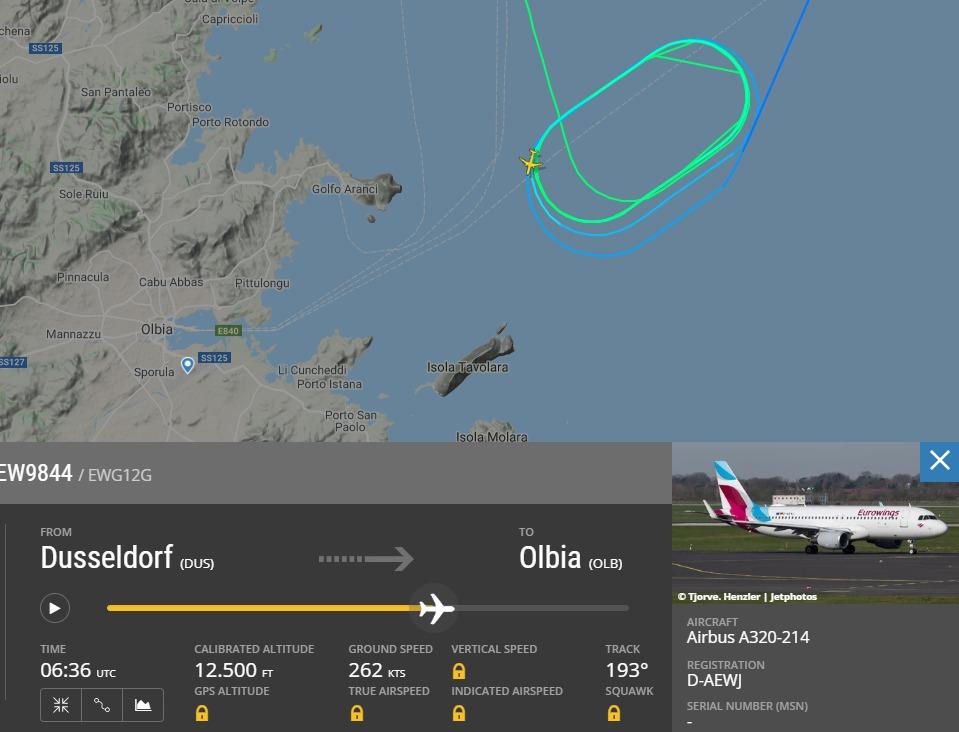 Volo Eurowings decollato dalla Germania arriva ad Olbia, ma l'aeroporto è chiuso e torna indietro