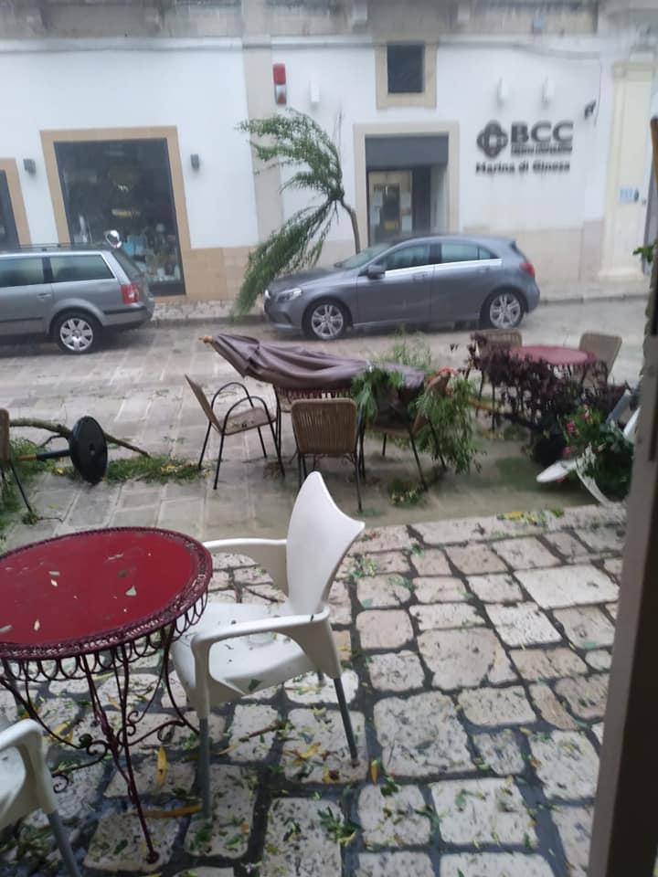 Forte maltempo in Puglia: grandine, venti tempestosi e danni a Ginosa