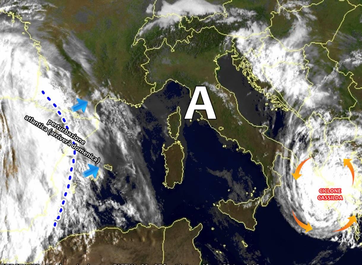 Meteo: al sud torna il bel tempo, il ciclone simil-tropicale si schianta sulla Grecia