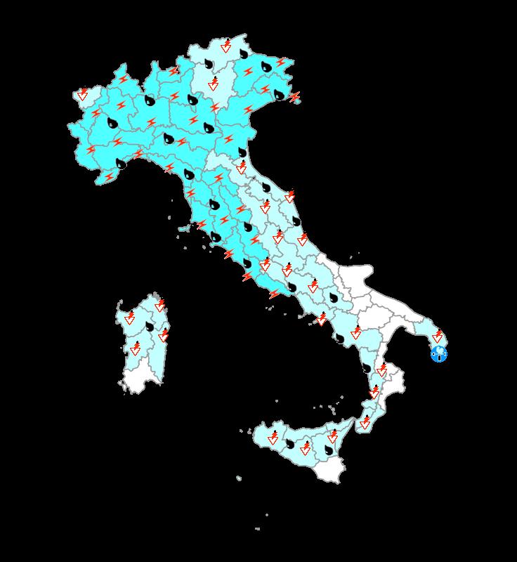 Protezione Civile domani 22 Settembre: maltempo su gran parte d'Italia, ecco le zone colpite