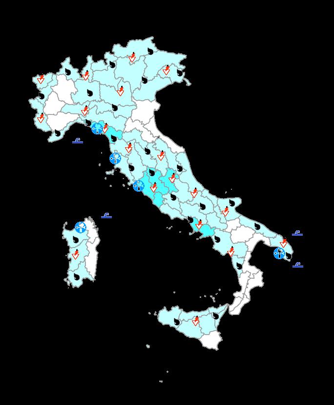 Protezione Civile giovedì 24 Settembre: netto peggioramento su mezza Italia