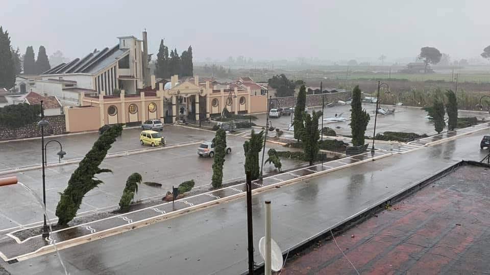 Maltempo in Campania: un tornado si abbatte a Casal di Principe, nel casertano