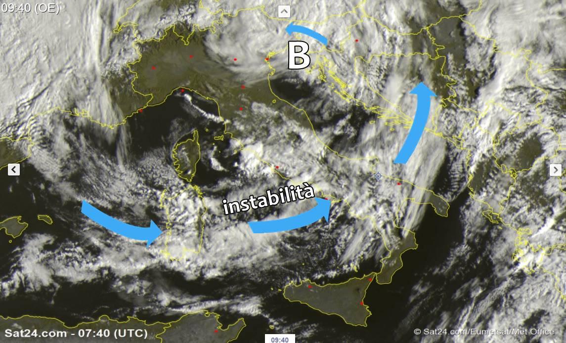 Meteo: risveglio freddo al nord, insiste il maltempo su tante regioni