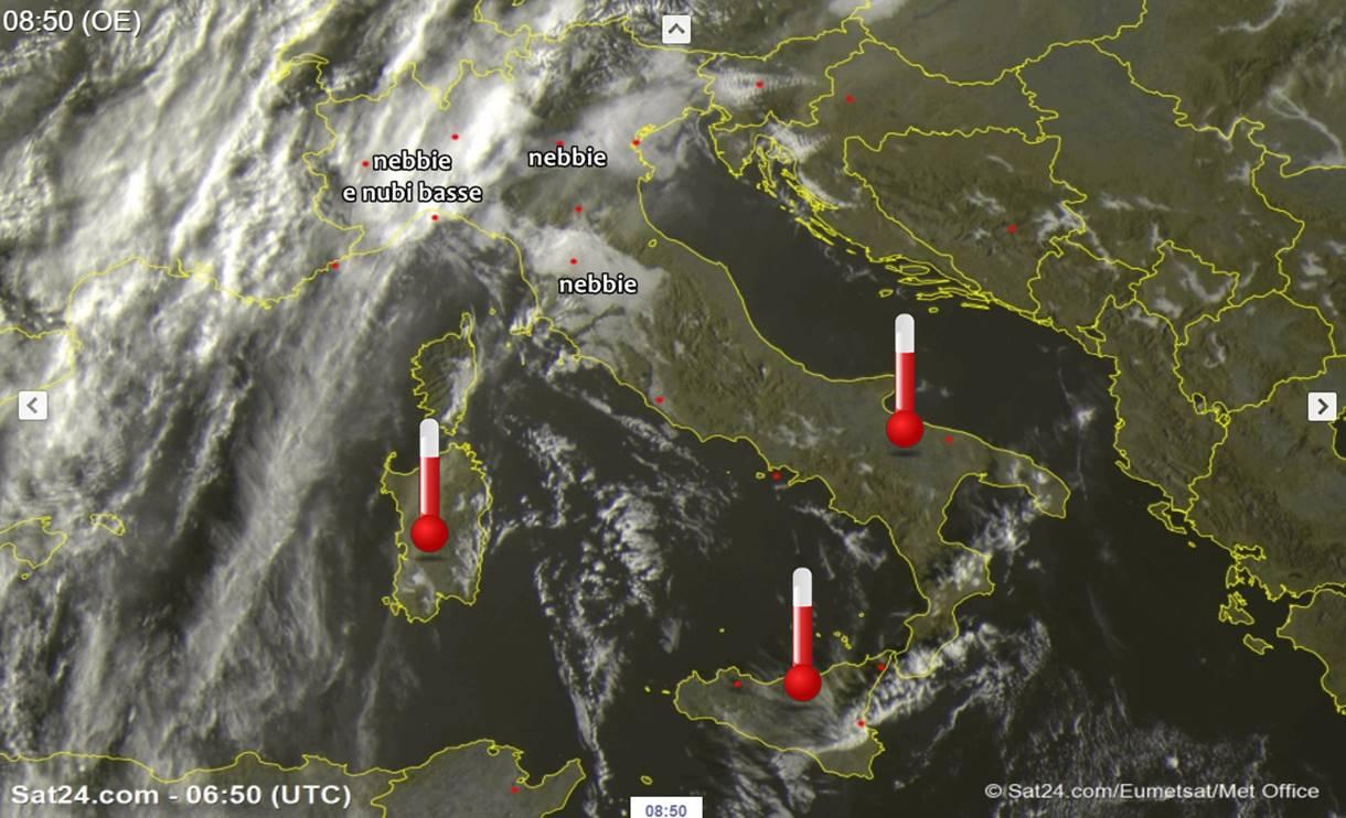 Meteo: tra Sole, nebbie e nubi basse, alta pressione agli sgoccioli?