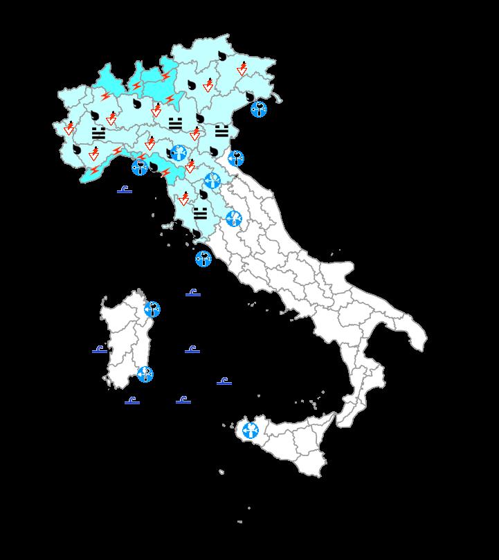 Protezione Civile domani 23 Ottobre: peggioramento al nord e su parte del centro Italia