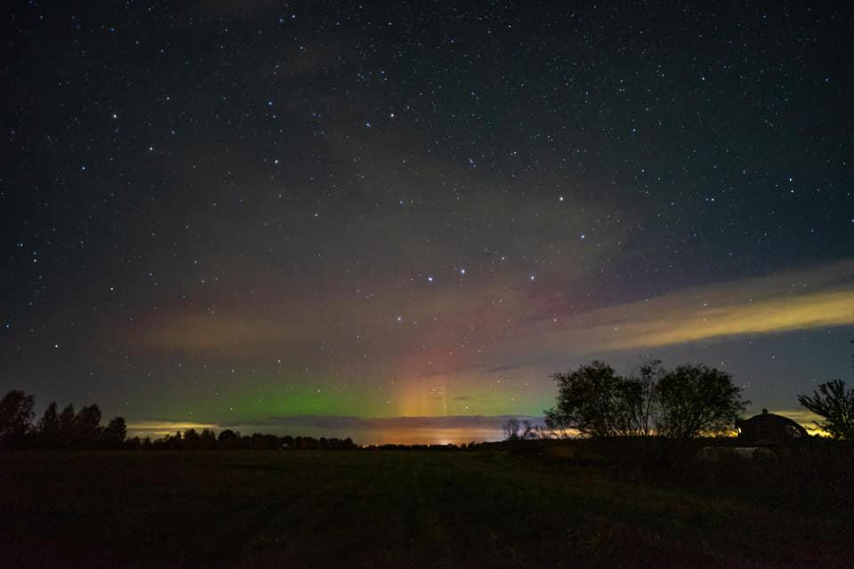 Aurora boreale in Lettonia, le immagini mozzafiato