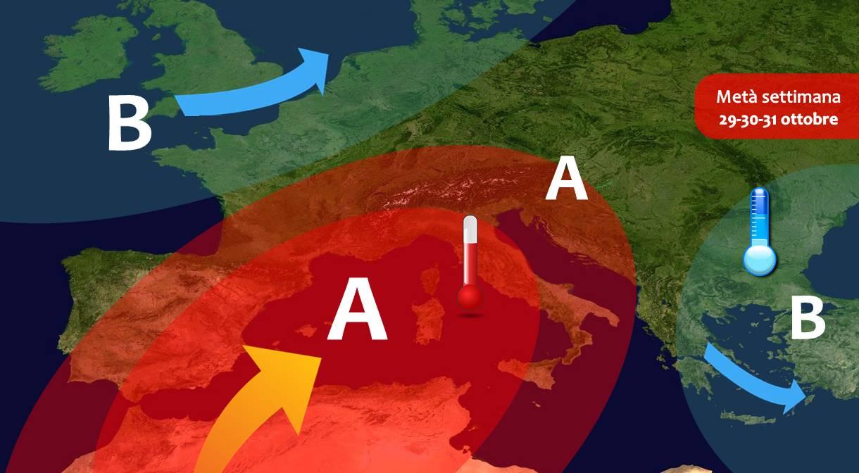 Previsioni meteo: confermata estate di San Martino, inizio di novembre MITE