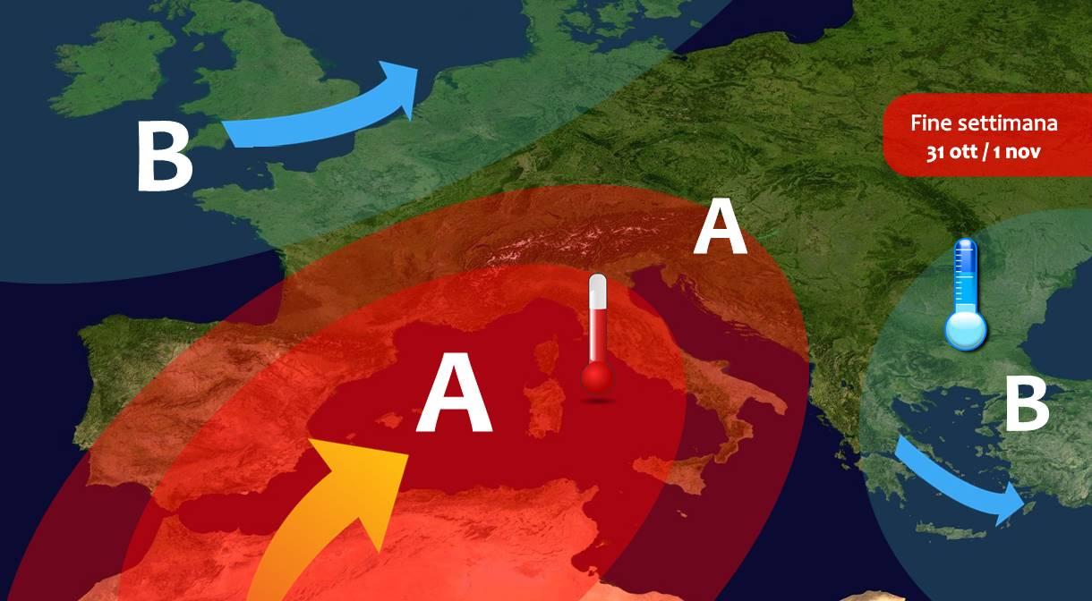 Week-end dominato dall'alta pressione, Sole e NEBBIE in Italia