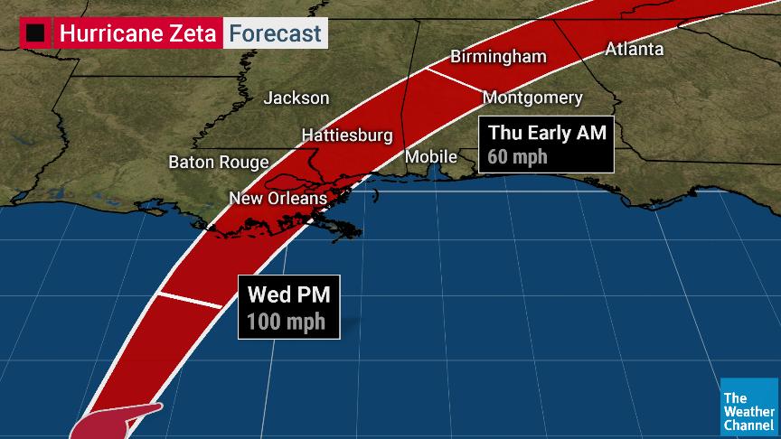 Uragano Zeta ad un passo dagli USA, allerta massima in Louisiana