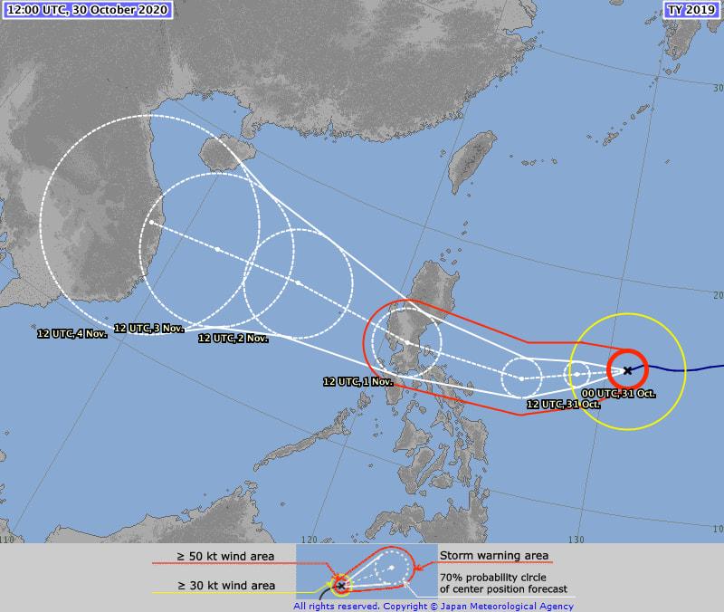 Super tifone Goni diventa di categoria 5, allerta massima nelle Filippine