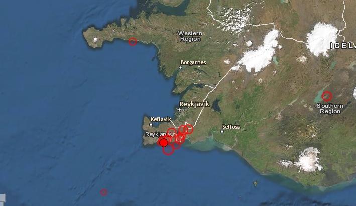 Improvviso forte sciame sismico in Islanda: paura per una intensa scossa a Reykjavík