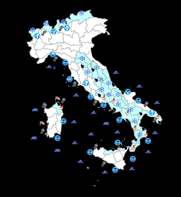 Meteo Protezione Civile domani 7 Aprile: freddo su tutta Italia, nevicate fino a bassa quota al centro-sud