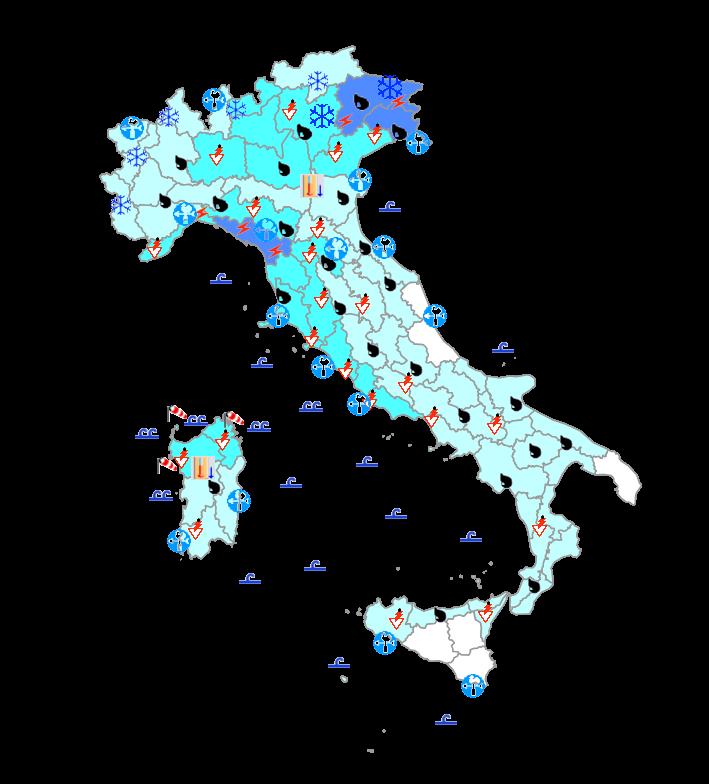 Meteo Protezione Civile domani 12 Aprile: maltempo anche intenso al centro-nord