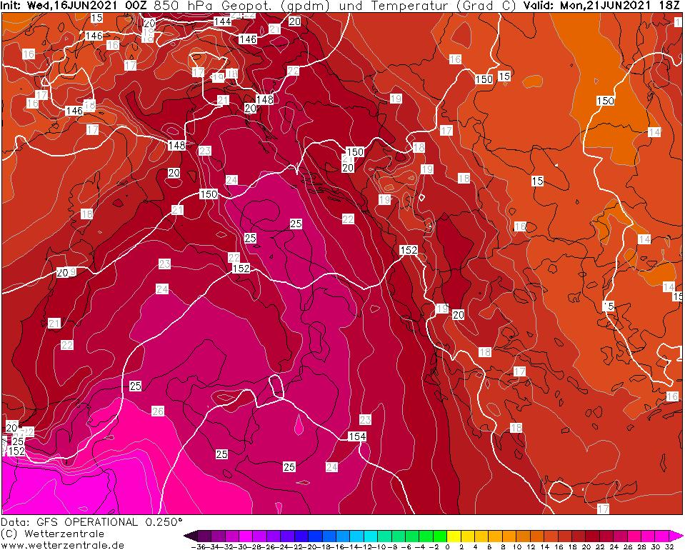 Previsioni meteo: inizio settimana con caldo estremo, previsti picchi sopra ai 40 gradi!