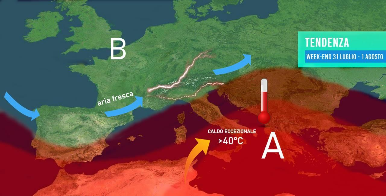 Meteo: caldo eccezionale al sud, ritornano forti temporali al nord