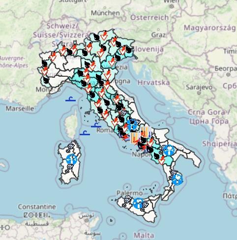 Meteo Protezione Civile domani 17 Settembre: instabile su gran parte d'Italia