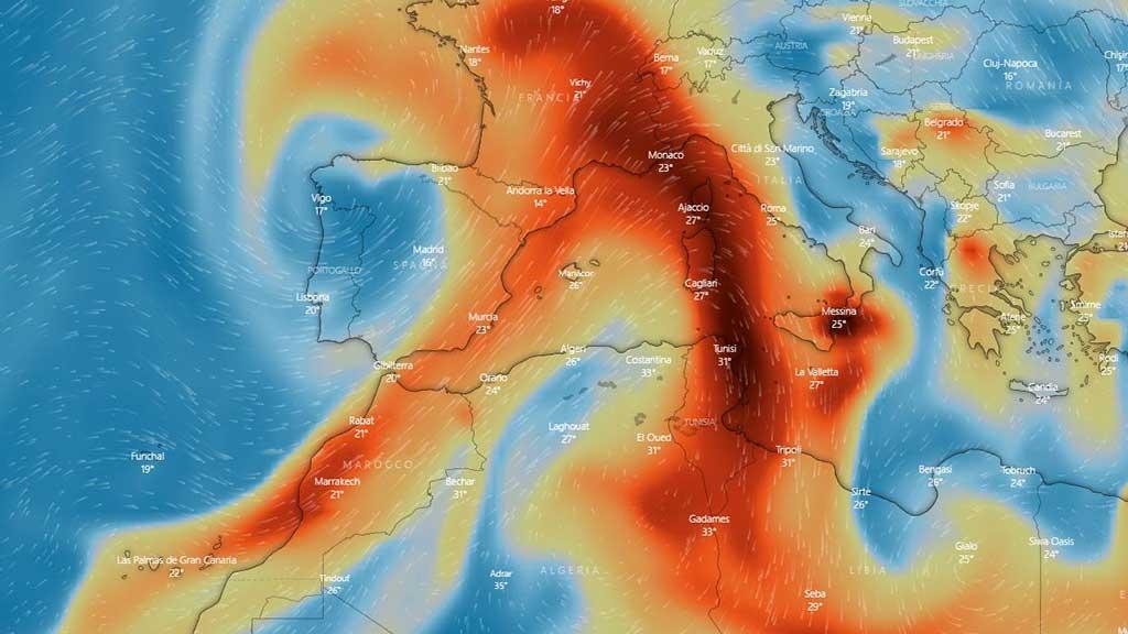 Forte eruzione alle Canarie: vasta nube di anidride solforosa verso il Mediterraneo e l'ITALIA