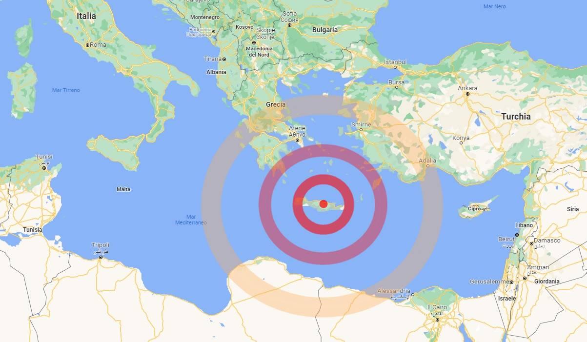 Violento terremoto su Creta, trema il Mediterraneo: si temono danni