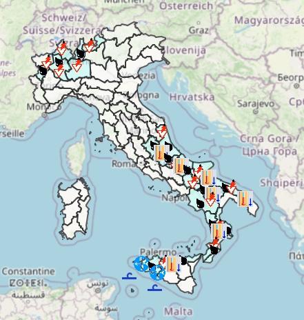 Meteo Protezione Civile domani 28 Settembre: tempo in gran parte stabile, qualche pioggia soprattutto al Sud