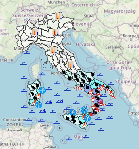 Allerta meteo della Protezione Civile per domani: Sud colpito da ciclone mediterraneo, pericolo alluvioni