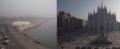 Si invertono i ruoli: Napoli avvolta dalla nebbia, su Milano splende il Sole