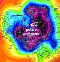Vortice polare in grande forma sul Polo: così l'inverno si congeda davvero