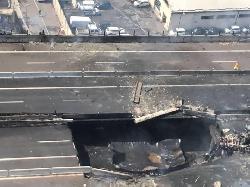 Parte del ponte crollato sulla A14<br><br><p><strong><span style=